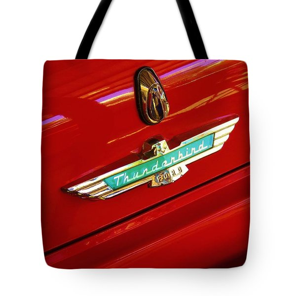 Classic Ford Thunderbird Emblem Tote Bag