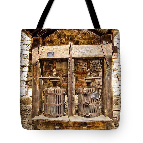 Tote Bag featuring the photograph Classic Grape Press by Jason Abando