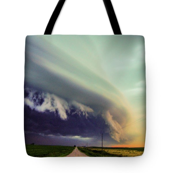 Classic Nebraska Shelf Cloud 024 Tote Bag
