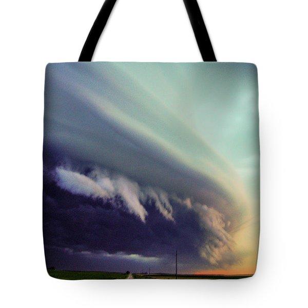 Classic Nebraska Shelf Cloud 027 Tote Bag