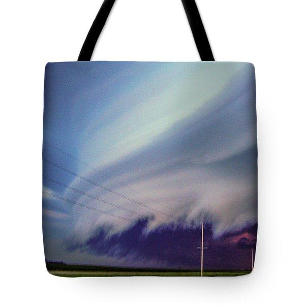 Classic Nebraska Shelf Cloud 028 Tote Bag