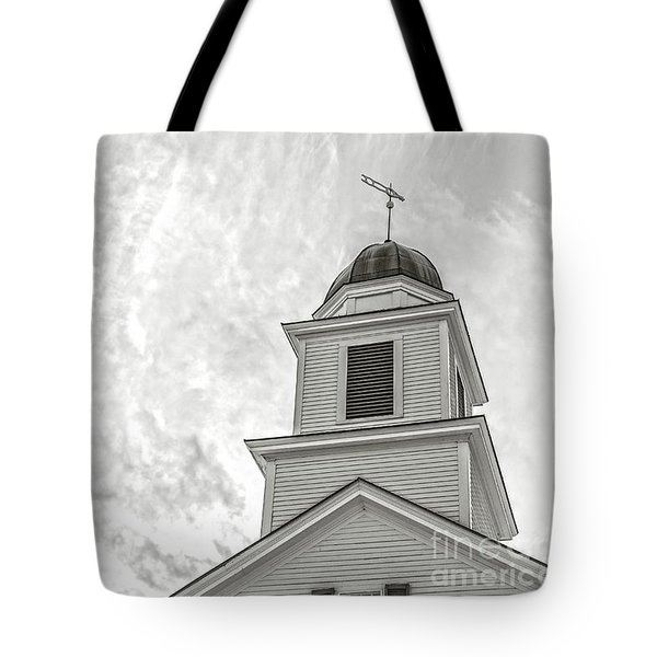 Tote Bag featuring the photograph Classic New England Church Etna New Hampshire by Edward Fielding