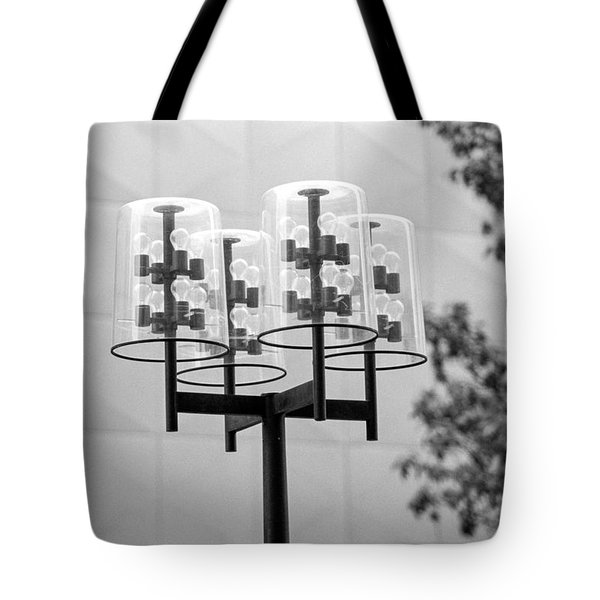 Tote Bag featuring the photograph Classic Nicollet Mall Street Lamp by Mike Evangelist