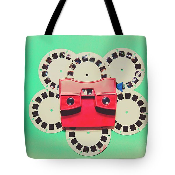 Classic Old Media Slide Show Viewer Tote Bag
