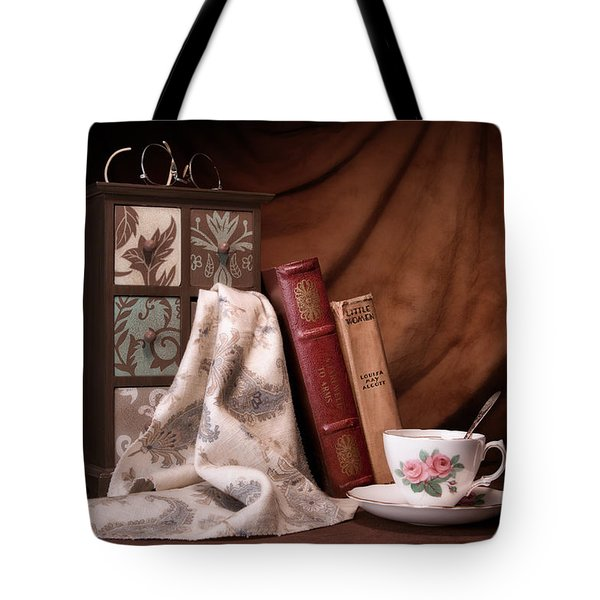 Classic Reads Still Life Tote Bag by Tom Mc Nemar