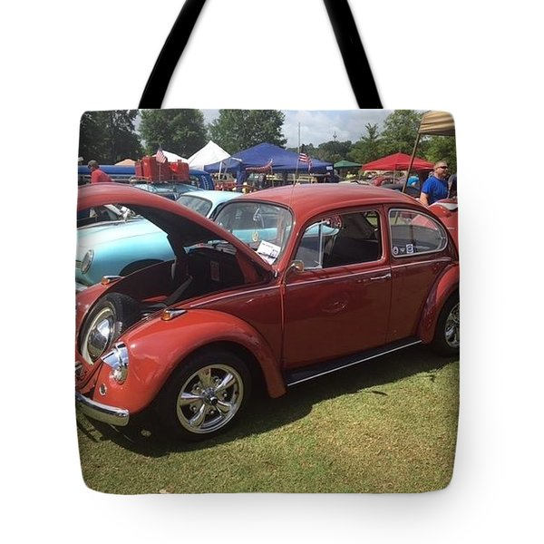 Tote Bag featuring the photograph Classic Red Bug by Aaron Martens