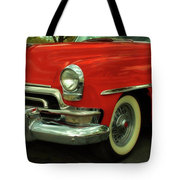 Classic Red Chrysler Tote Bag