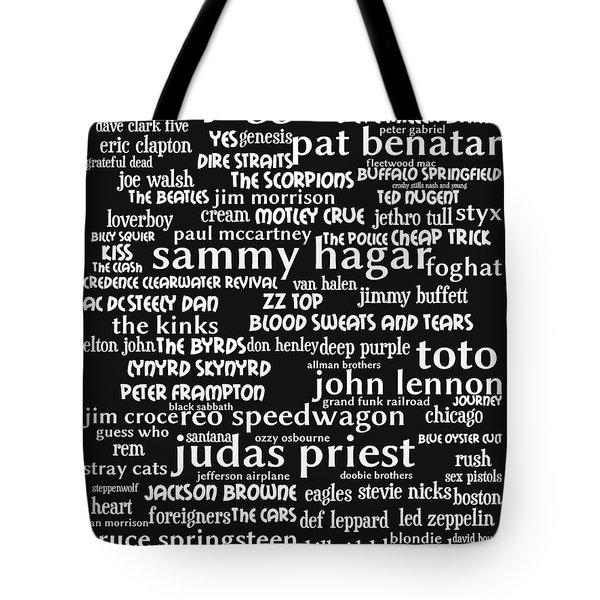 Classic Rock Bw Tote Bag
