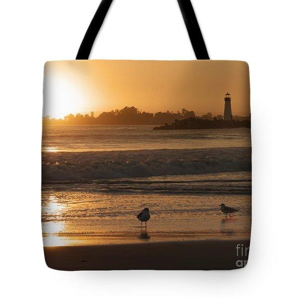 Classic Santa Cruz Sunset Tote Bag