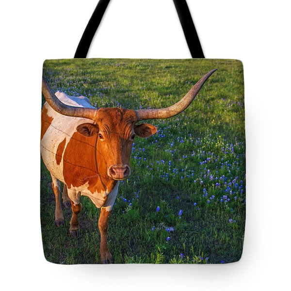 Classic Spring Scene In Texas Tote Bag