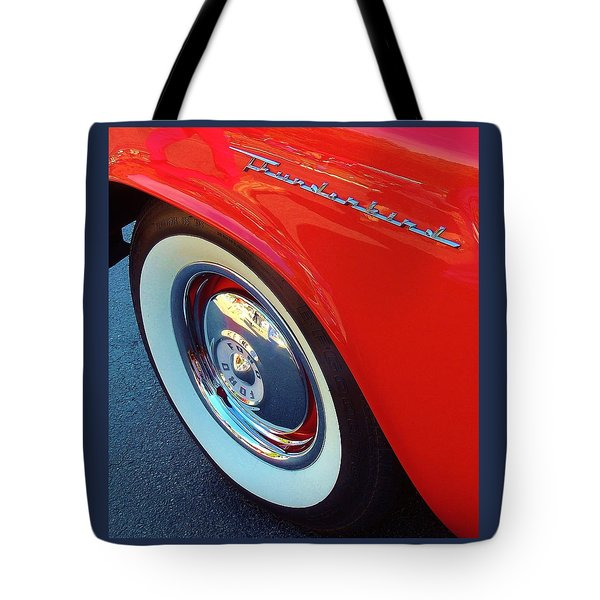Classic T-bird Tire Tote Bag