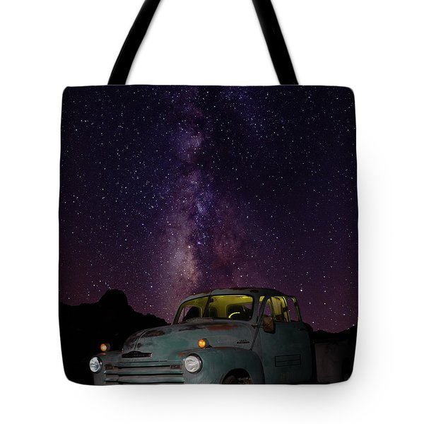 Tote Bag featuring the photograph Classic Truck Under The Milky Way by James Sage