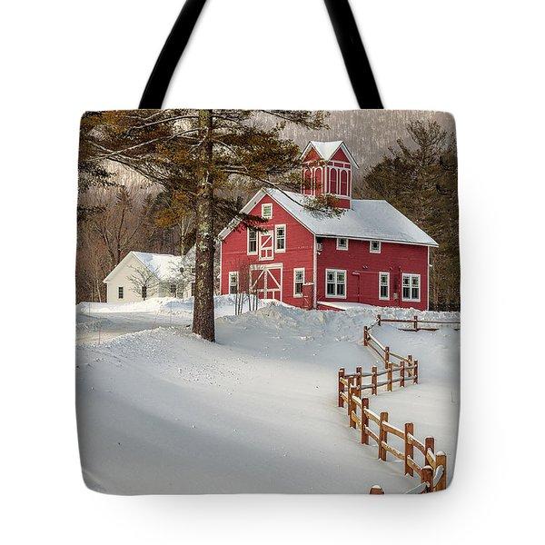 Classic Vermont Barn Tote Bag