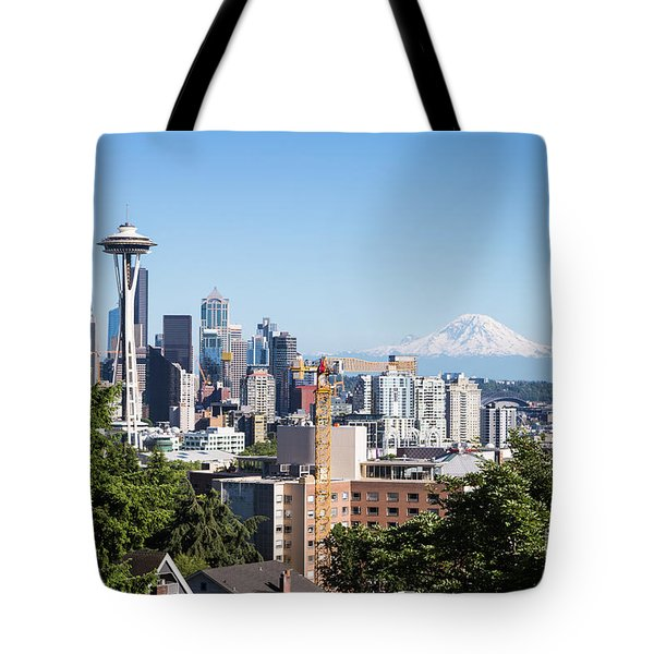 Classic View Of Seattle, Usa Tote Bag