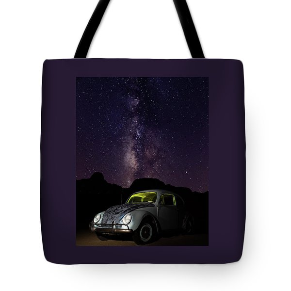 Tote Bag featuring the photograph Classic Vw Bug Under The Milky Way by James Sage