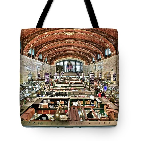 Classic Westside Market Tote Bag by Frozen in Time Fine Art Photography