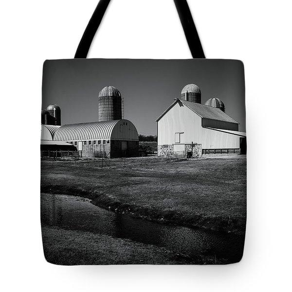 Classic Wisconsin Farm Tote Bag