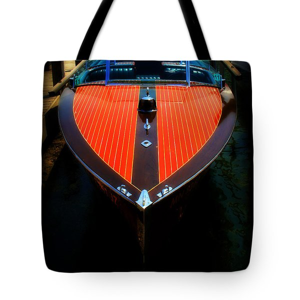 Classic Wooden Boat Tote Bag by Perry Webster
