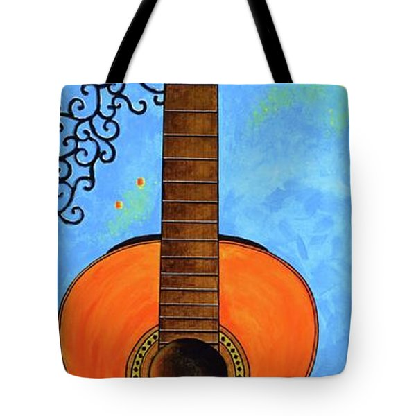 Tote Bag featuring the painting Classical Music by Mary Scott