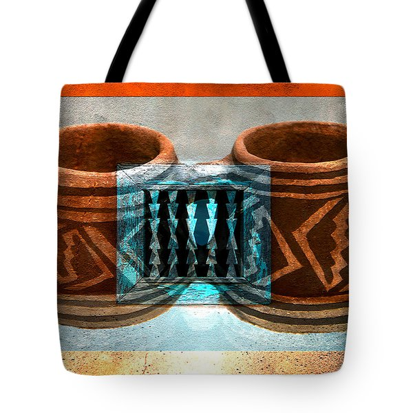 Tote Bag featuring the digital art Classsic Designs Of The Southwest by David Lee Thompson