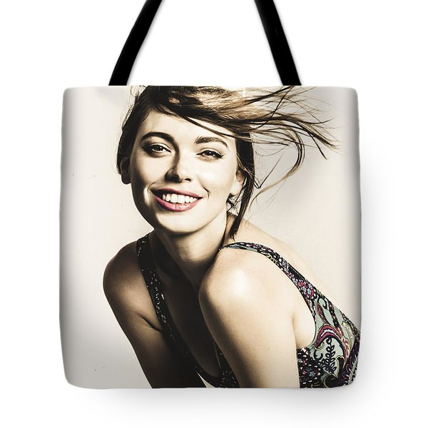 Classy Cool Hairstyle Pin Up Tote Bag