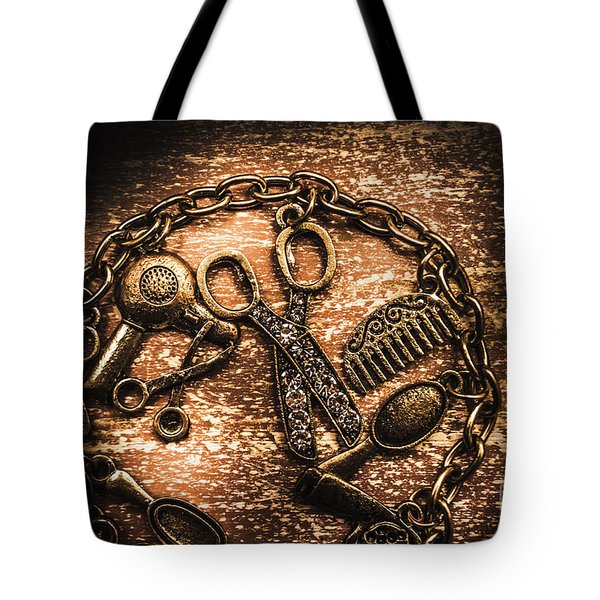 Classy Haircut Icons Tote Bag