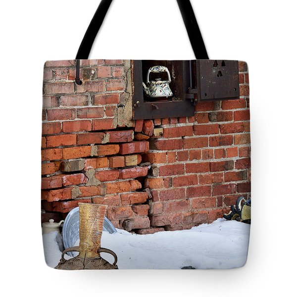 Tote Bag featuring the photograph Classy Pottery Remnants by Kae Cheatham