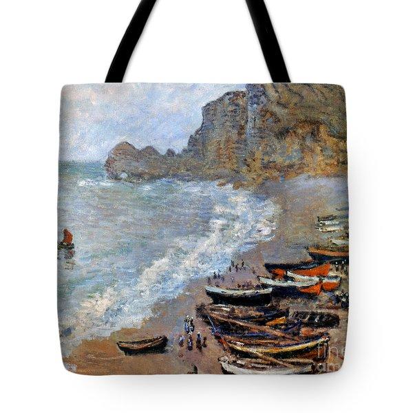 Claude Monet: Etretat, 1883 Tote Bag by Granger