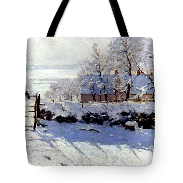 Claude Monet The Magpie - To License For Professional Use Visit Granger.com Tote Bag