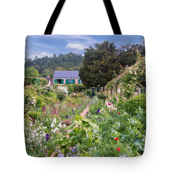 Tote Bag featuring the photograph Claude Monet's House And Garden by John Rivera
