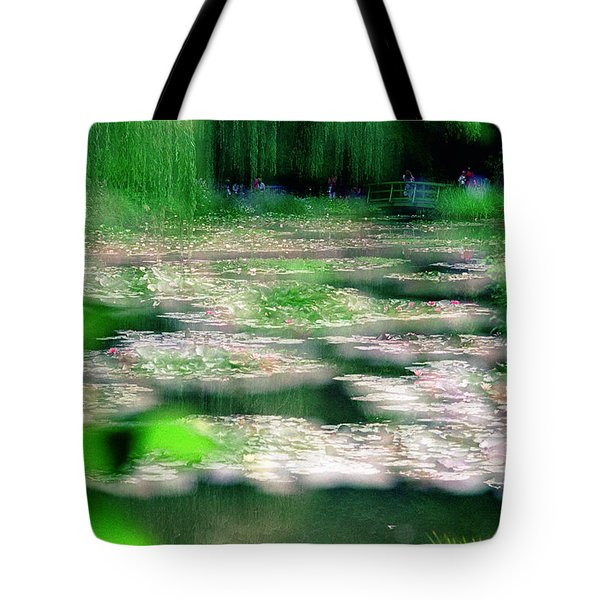Tote Bag featuring the photograph Claude Monets Water Garden Giverny 1 by Dubi Roman