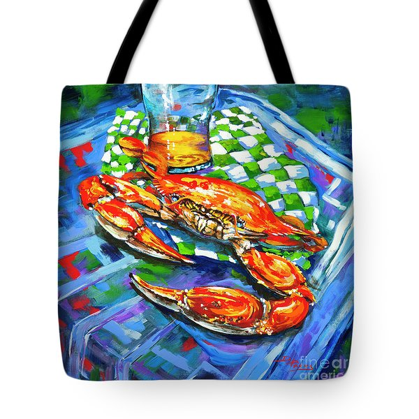 Tote Bag featuring the painting Claw Daddy by Dianne Parks