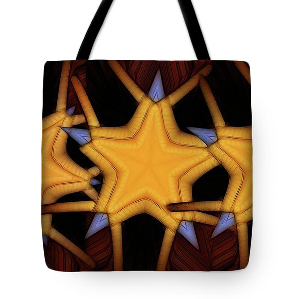 Clawed Stars  Tote Bag by Ron Bissett
