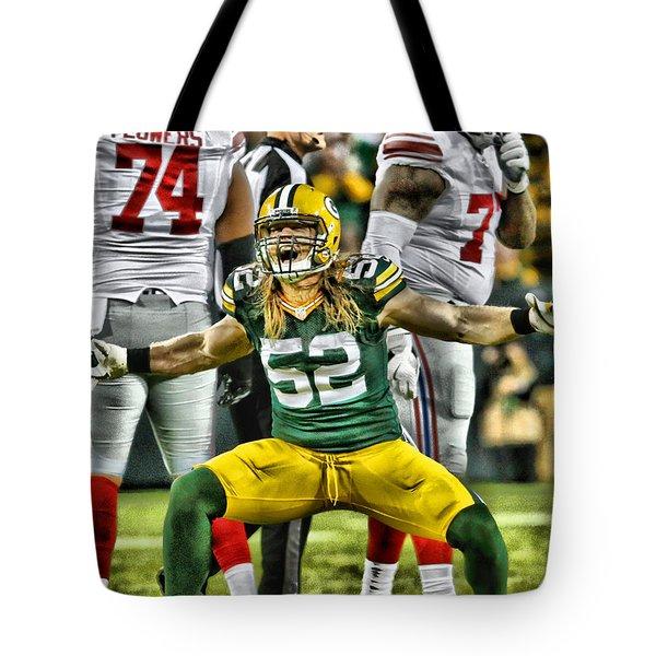Clay Matthews Green Bay Packers 5 Tote Bag