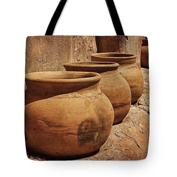 Clay Pots At Tumaca'cori Txt Tote Bag