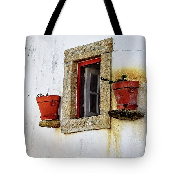 Tote Bag featuring the photograph Clay Pots In A Portuguese Village by Marion McCristall