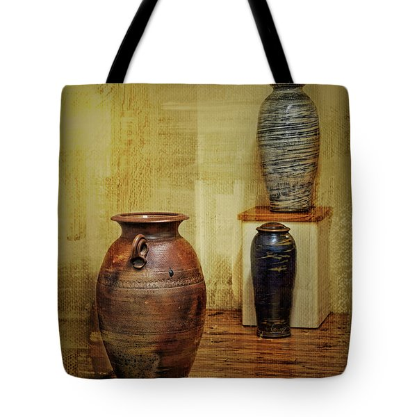 Clay - Wood Tote Bag
