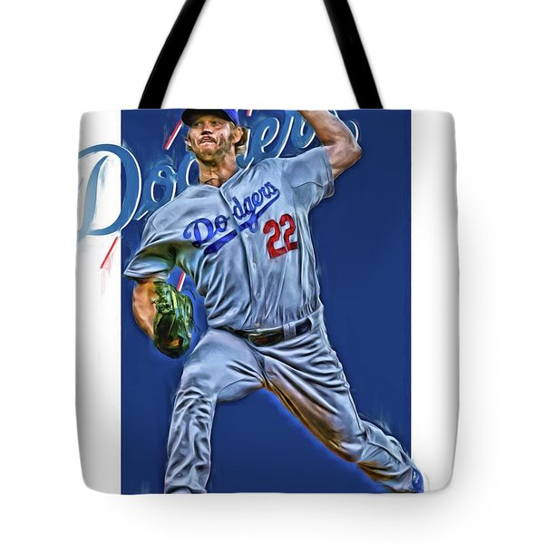 Clayton Kershaw Los Angeles Dodgers Oil Art Tote Bag