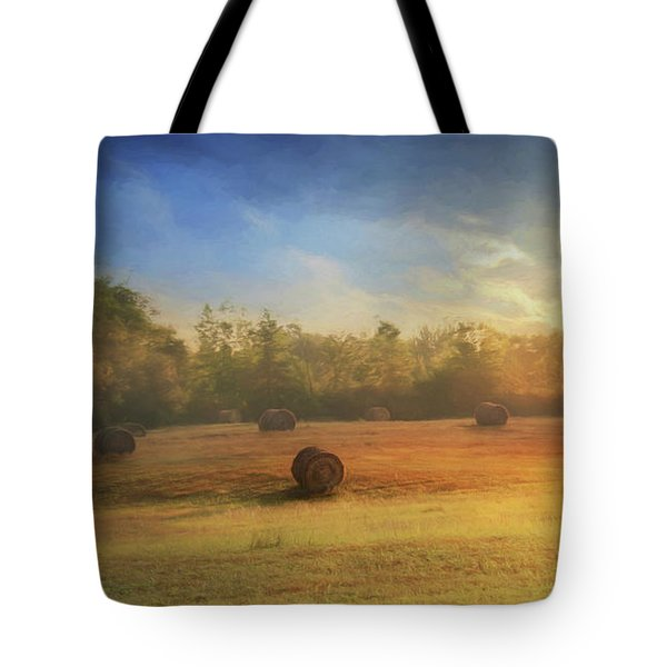 Tote Bag featuring the photograph Clayton Morning Mist by Lori Deiter