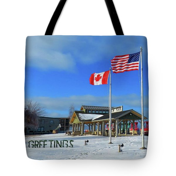 Clayton Seasons Greetings Tote Bag
