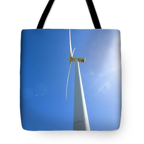 Clean Blue Energy Tote Bag