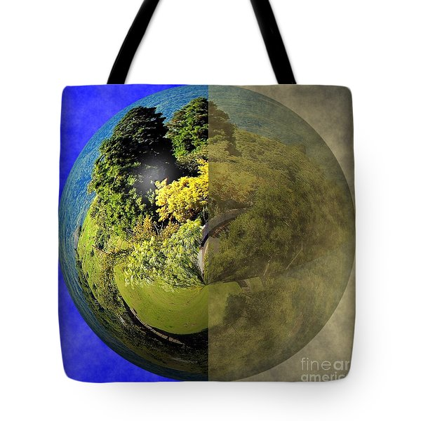 Clean Earth Versus Polluted Earth Tote Bag by Yali Shi
