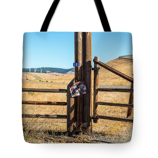 Clean Power And Old Ranch Gates Tote Bag