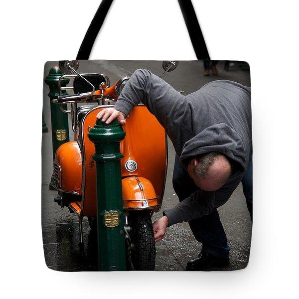 Clean Vespa Tote Bag