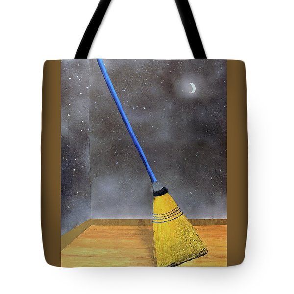 Tote Bag featuring the painting Cleaning Out The Universe by Thomas Blood