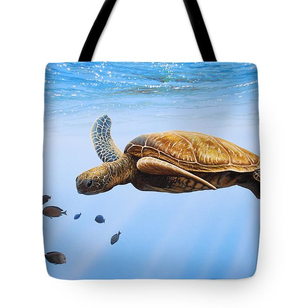 Clear Blue Tote Bag