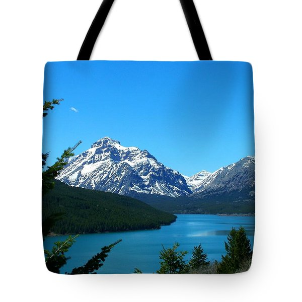Clear Blue Lower Two Med Lake Tote Bag