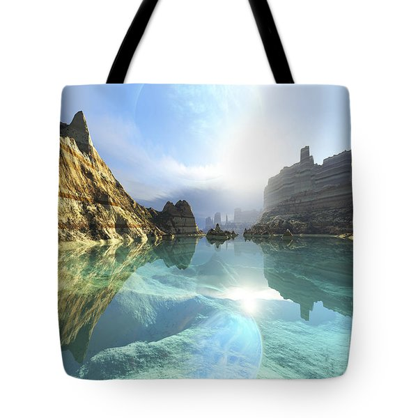 Clear Canyon River Waters Reflect Tote Bag by Corey Ford