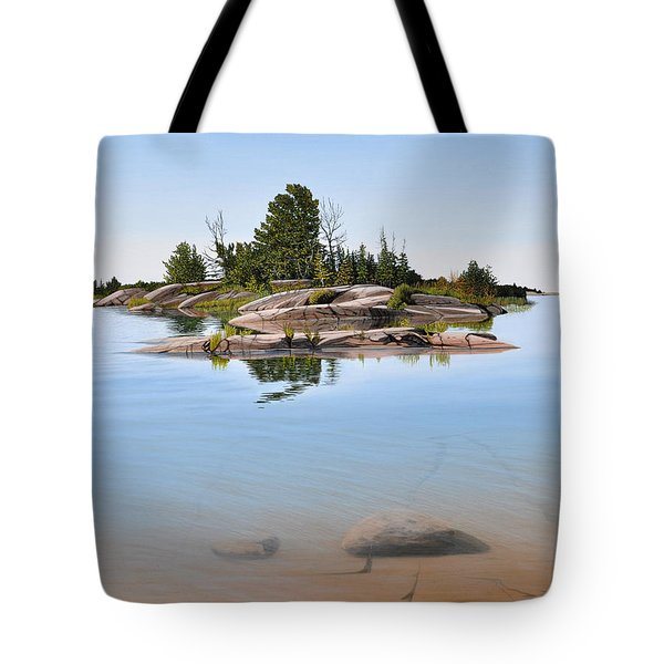 Tote Bag featuring the painting Clear Contentment by Kenneth M Kirsch