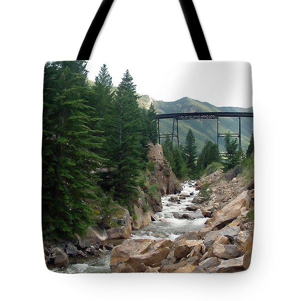 Clear Creek Colorado Tote Bag by John Bushnell